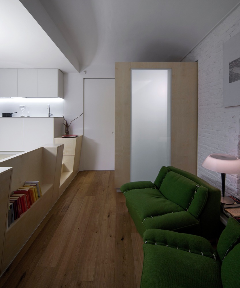 Turin apartment renovation seating area