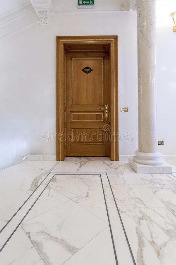 Entrance hallway in luxury classic-style villa royalty free stock photography