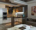 Зал с кухней дизайн – как сделать кухню вместе с гостиной, а перенести спальню
