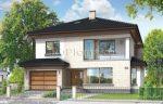 Двухэтажный дом с гаражом с мансардой – Проекты двухэтажных домов с мансардой и гаражом