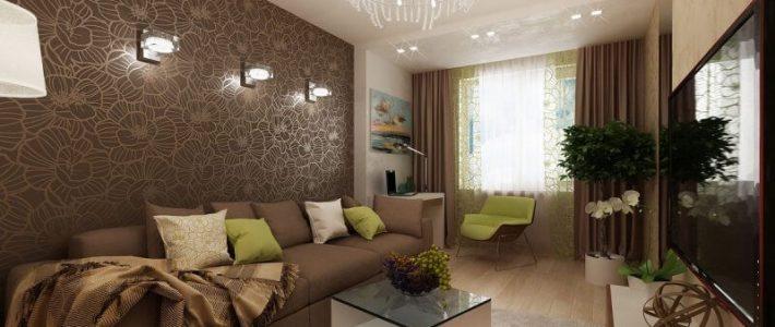 Как красиво скомбинировать обои в зале фото – как правильно подобрать обои-компаньоны двух видов и цветов, реальные примеры правильного сочетания и комбинирования, идеи 2019 для гостиной в интерьере