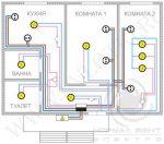 Схема электрическая комнаты – типовые схемы и программы для расчетов