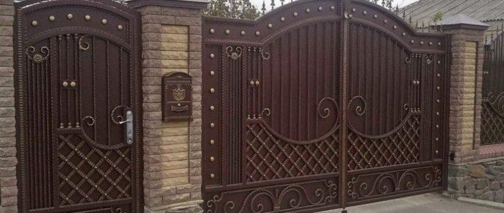 Ворота в частный дом своими руками – , ,